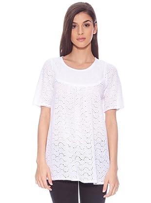 Sigris Camisa Con Canesú (Blanco)