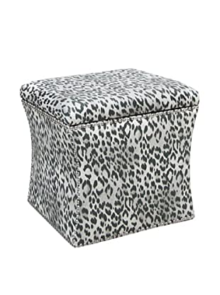 Skyline Nailhead Stud-Accented Storage Ottoman, Bosana Shadow