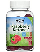 WOW ADULT GUMMIES - RASPBERRY KETONES - Made in USA - Great Taste-50 Count