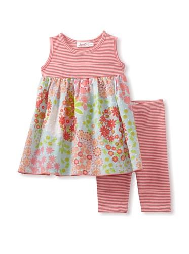 Jupon Baby Gemma Tunic & Leggings Set (Coral/Aqua)