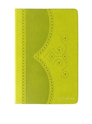 Ted Baker Green Brogue Notebook Medium, Green