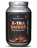 British Nutrition X-Tra Gainer - 1 kg (Chocolate)