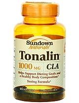 Sundown Naturals CLA, 1000 mg, 60 Softgels