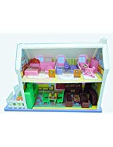 Sunshine Large Size - #34 Pieces Doll House - Best Quality Material Used - Great Gift for Girls