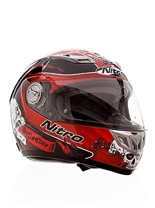 Nitro Casco Hellrazor (Rosso/Nero/Rosso)