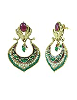 Aakshi Copper Dangle & Drop Earring For Women (Green)