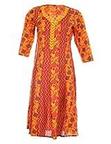 Pure Nautanki Women's Cotton V-Neck Kurti (SK-2062_XXL, Multi-Colour, XXL)