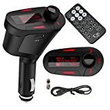 Alria Car MP3 Player FM Transmitter Modulator-LCD, USB, SD, MMC With Remote (Red Colour Display)