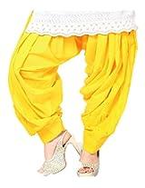 Castle Women's Salwar (Yellow_Free Size)