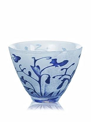 Kosta Boda Floating Flowers Bowl, Blue