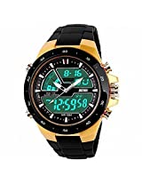 Gosasa SKMEI 1016 New Sports Watch Silicone 50M water resistant Light Digital, Gold