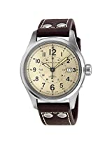 Hamilton Khaki Field Automatic Old Paper Dial Brown Leather Men'S Watch - Hml-H70595523