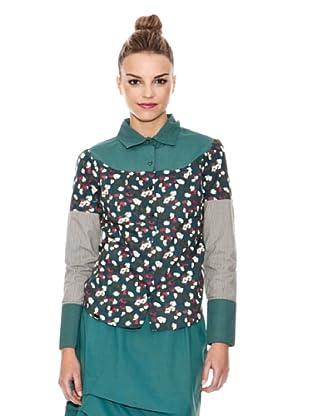 Laga Camisa Estampado Floral (Verde)