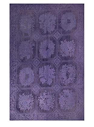nuLOOM One-of-a-Kind Hand Woven Micah Turkish Kilim, Violet, 6' 9