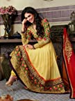 Stylelok Yellow pure Georgette Semi Stitched Suit SL 100002