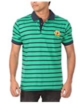 Rampwaq Men's Polo (RWPLSTR004_M_Green_Medium)