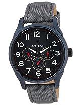 Titan Purple Multi-Function Analog Black Dial Men's Watch - 9479AF04J
