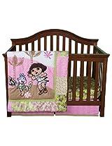 Trend Lab Nickelodeon 5 Piece Crib to Toddler Bedding Set, Dora the Explorer Exploring the Wild