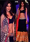 Priyanka Chopra Blue Velvet Lehenga â€