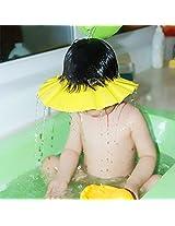 House Of Quirk Soft Baby Kids Children Shampoo Bath Bathing Shower Cap Hat Wash Hair Shield - Yellow