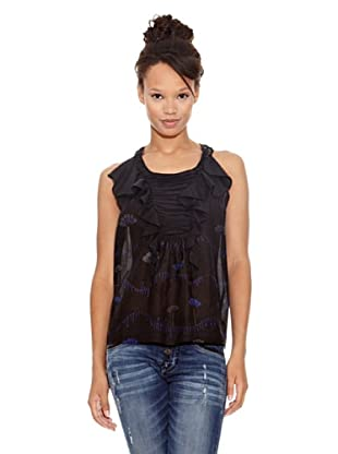 Desigual Blusa Faerie (Negro Estampado)