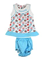 Ssmitn Baby Wear Hello Family Blue Frock For Girls