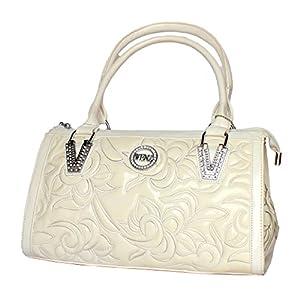 StonKraft Women's Handbag (White) (FxLthrWhtBag126)