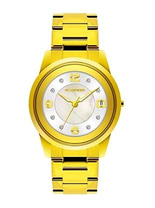 K&BROS 9182-3 / Reloj de Señora  con brazalete metálico blanco