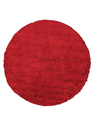 Hand-Knotted Casablanca Retro Shag Rug, Red, 6' 7