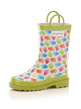 Whoops Bunny Kid's Hand Rain Boot (Toddler/Little Kid) (Multi Color Hands)