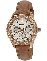Fossil Stella Analog White Dial Women's Watch - ES3104
