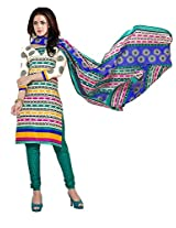 Sonal Trendz Beige Color Pure Cotton Printed Suit.