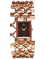 Titan Purple Analog Brown Dial Women's Watch - NE2507WM01