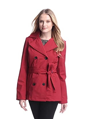 Tommy Hilfiger Women's Soft Shell Trench with Fleece Lining (Red)