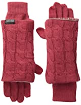 Muk Luks Women's Reversible Three-In-One Gloves