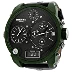 Diesel Sba Green Chronograph Mens Watch Dz7250