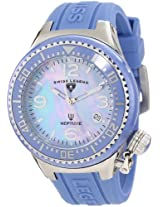 Swiss Legend Watches, Neptune Ceramic (44 mm) Blue Mother Of Pearl Dial Blue Silicone, Model 11844-BLBLSA
