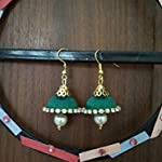Green Traditional Jhumki Earring