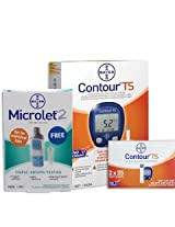 Contour Super Saver Blood Glucose Monitoring Pack with 50 Test Strips