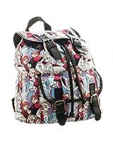Disney Frozen Anna Elsa Sublimated Knapsack Backpack