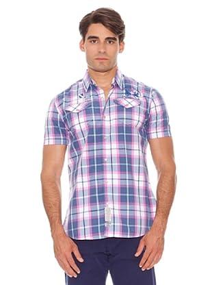 La Martina Camisa (Morado / Rosa)