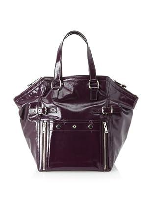 Yves Saint Laurent Women's Patent Leather Downtown Bag, Purple