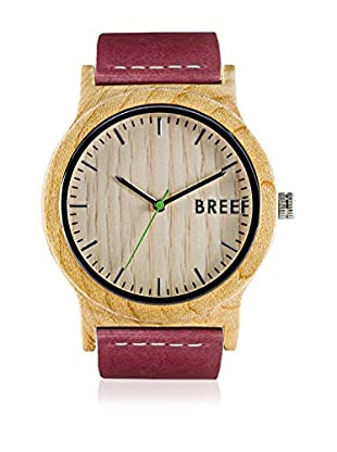 Breef Watches Reloj con movimiento japonés Unisex Maple Original Frambuesa 44 mm