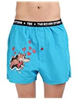 The Boxer Store's Wolf Design Boxer for Men - Red (Large) (Small)