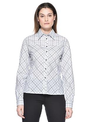Salewa Camisa Angel Spo Dry W (Blanco / Marrón Oscuro)