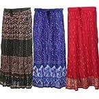 Skirts - jaipuri cotton skirts- pack of 3