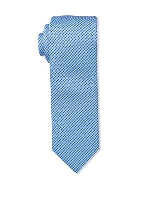 Massimo Bizzocchi Men's Micro Pattern Stitch Tie, Blue