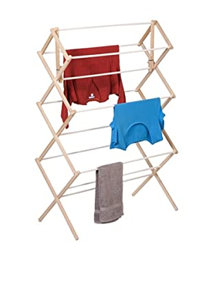 Honey-Can-Do Wood Drying Rack, Wood/White