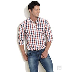 All Man Checkered Casual Shirt, Red