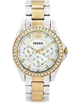 Fossil Es3204 Es Series Analog Watch for Women, silver, gold silver
